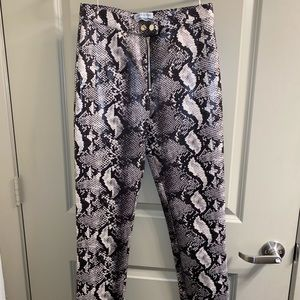 "urban outfitters ""leather"" snakeskin pants"